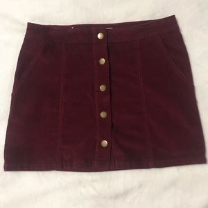 Altar'd state Maroon skirt